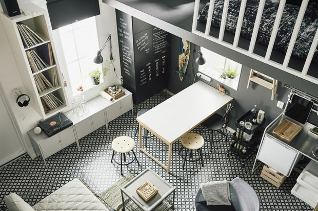A place for everything: Swedish designers Johan Dalin and Pia Kriisin kitted out a 15 sq m apartment with IKEA furnishings