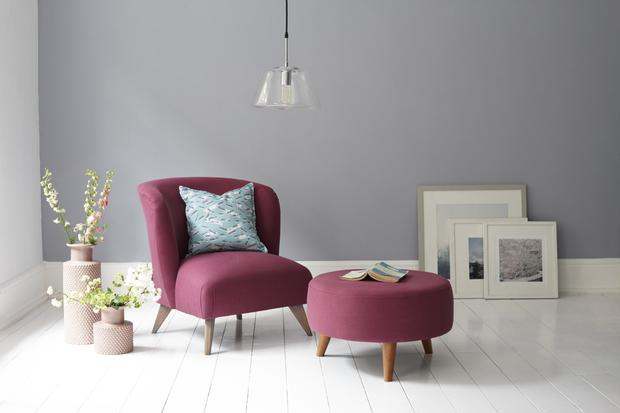 The lark armchair with footstool - also from DFS