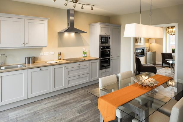 Shaker-style kitchens come from Nolans and the main bedrooms have fitted wardrobes.