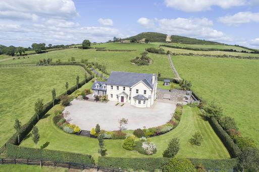 The property is set on 1.4 acres and surrounded by countryside, yet is also within convenient commuting distance of Dublin city