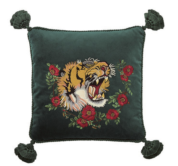 Dark green cushion, gucci.com