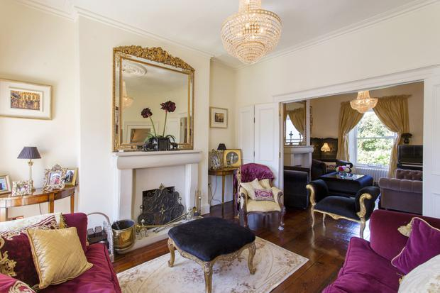 The double reception rooms at 37 Mount Merrion Avenue