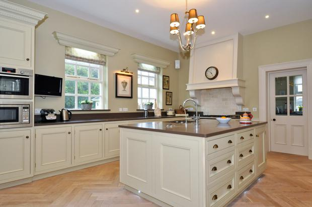 The solid wood kitchen was made especially for the house