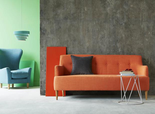 Next Carter sofa with Kira easy-fit shade and Johanna chair