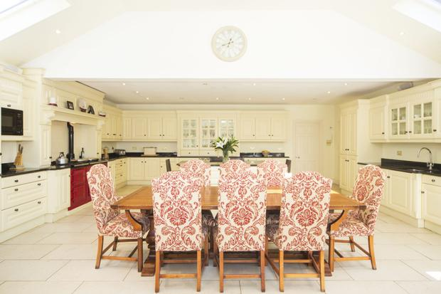 The kitchen/breakfast room measures 30ft by 23ft