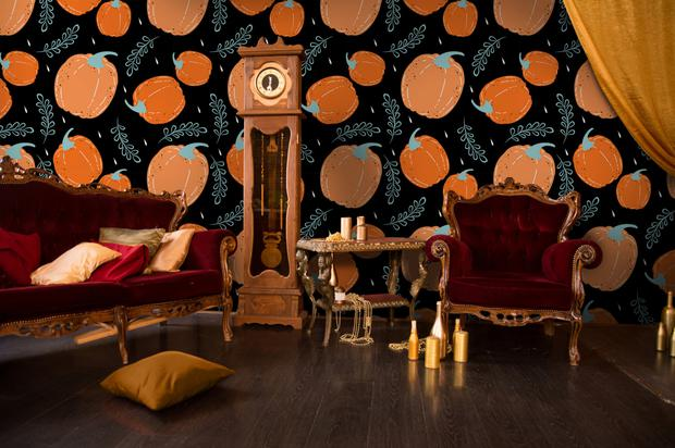 'Pumpkin Vertigo' wall mural from Pixers