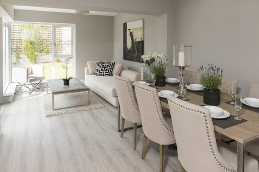 The dining/living area at Blackrock Crescent