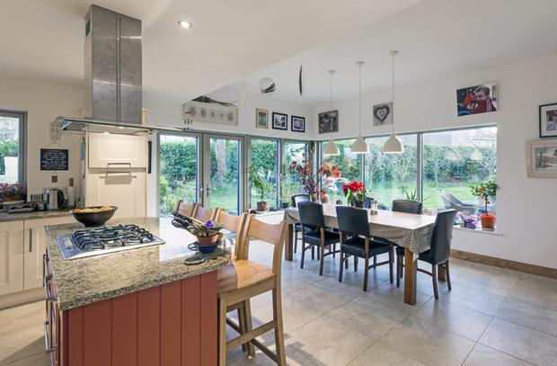 The family's kitchen and dining area.