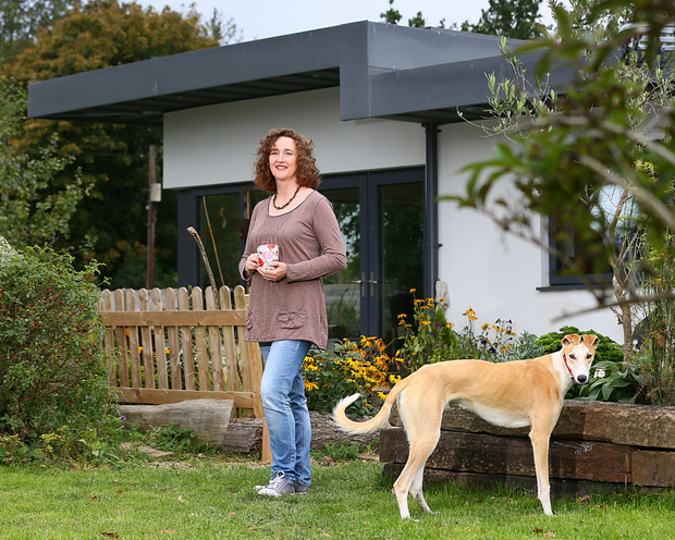 Siobhan Kennedy pictured with Juno, at her home near Ballincoola, Glenealy Co Wicklow.