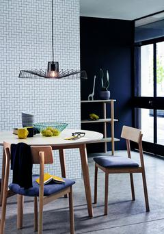 Remember that drop is important with pendant lights that make a statement. Your design scheme will suffer if it's hung too close to the ceiling; black metal 'Nate' ceiling light, €140, debenhams.ie