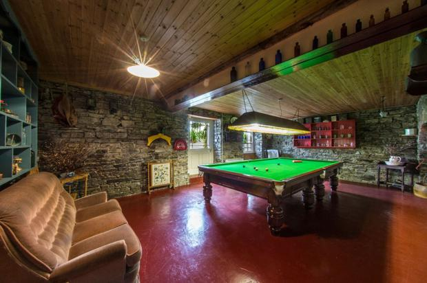 The games room is in the basement
