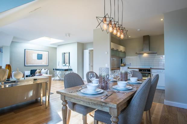 The living space at El Pinar which incorporates the kitchen, dining and sitting areas