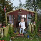 Karin Morrow outside her cabin in Bellewstown, Co Meath. Photo: Bryan Meade