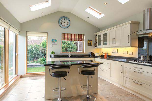 The extended kitchen and dining room