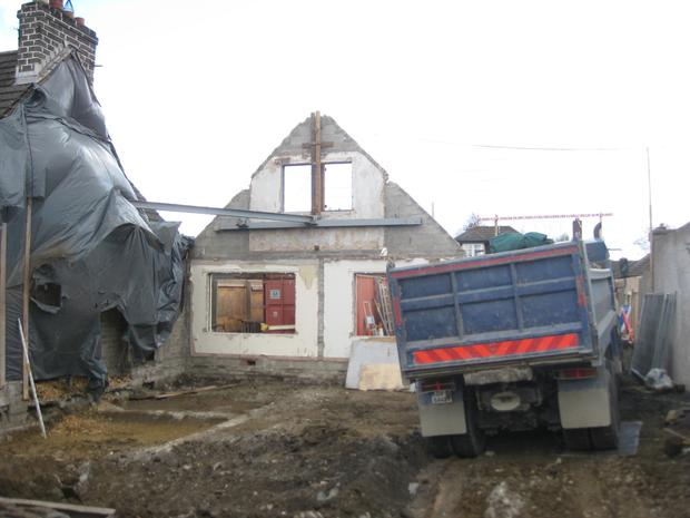 The Terenure dormer bungalow was almost completely rebuilt