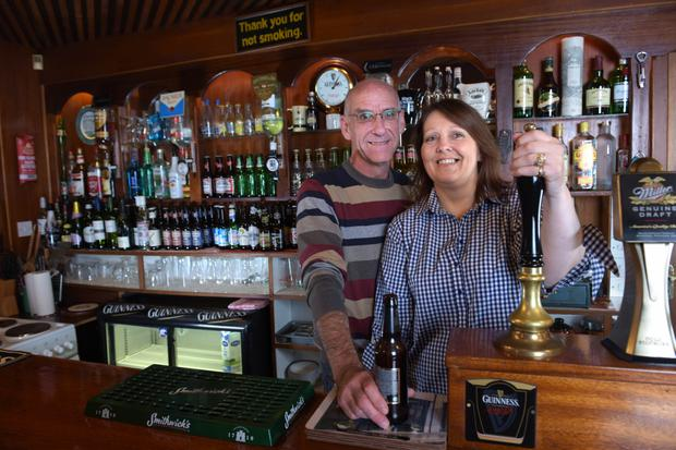 Current owners Dave and Erron Slingsby inside Conroy's Old Bar in Aglish. Photo. Bryan Meade