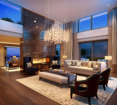 One of the penthouses at Lansdowne Place in Ballsbridge
