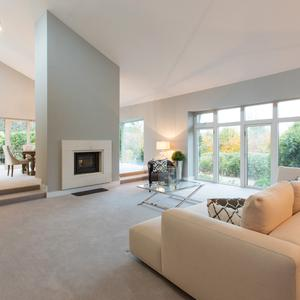 The large free-flowing living/dining spaces are ideal for entertaining