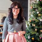 Chupi Sweetman goes for feminine pink as well as gold in planning her Christmas decorations — set against shades of grey. As a jewellery designer, she adds her own sparkle
