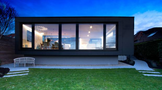 The extension at the south Dublin bungalow which Liam Brennan transformed with fellow designer Shane Traynor