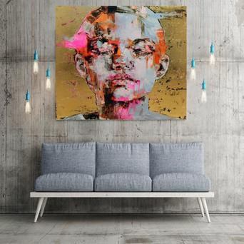 Print by Marco Grassi 'Gold 20', €290, from idecorateshop.com