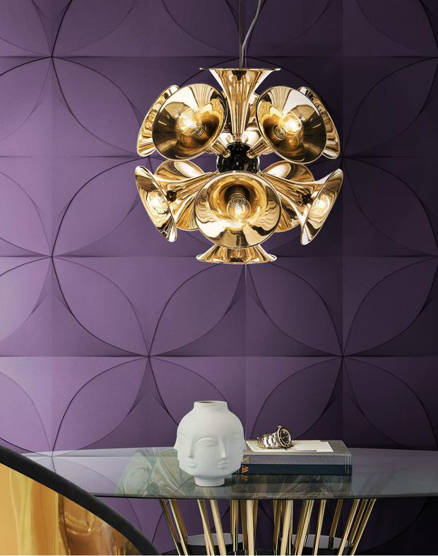 Dining room inspired by Ultra Violet from DelightFULL