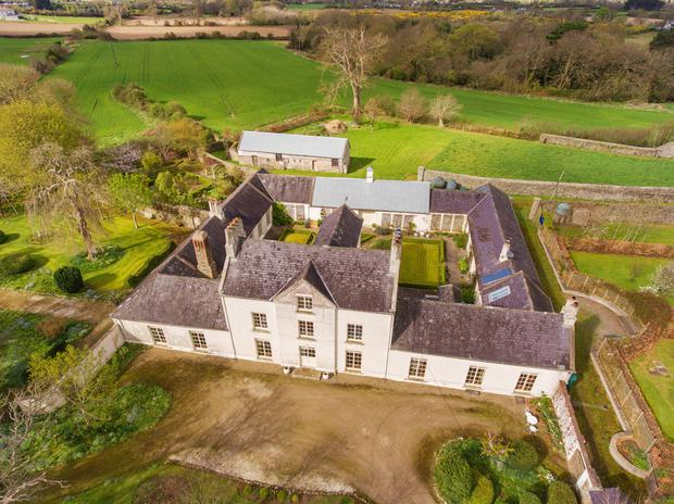 An aerial view of Knocknagin House in Balbriggan