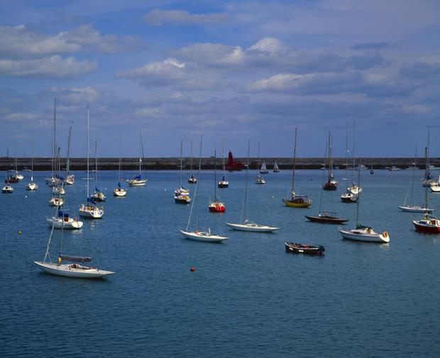 View at Dun Laoighaire harbour