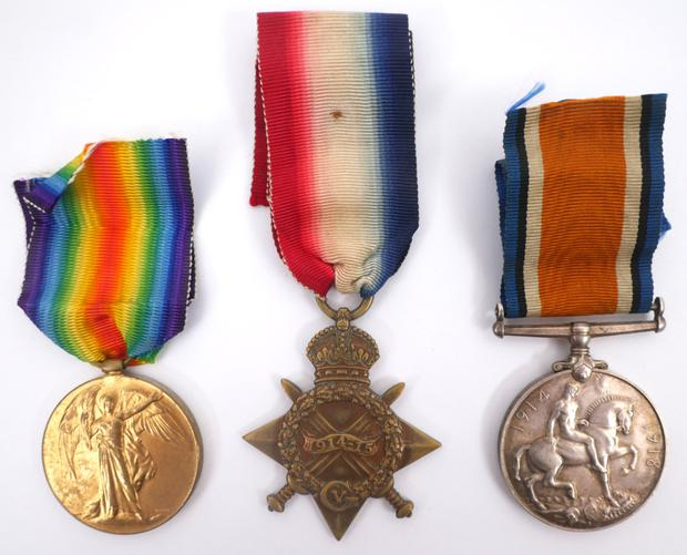 Victory Medal, The 1914 Star, and British War Medal