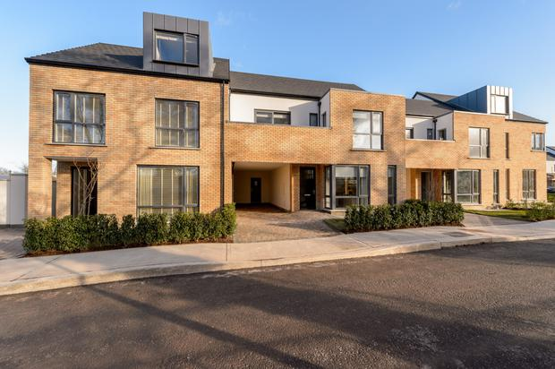 The exterior of the properties at Glaslinn in Donabate