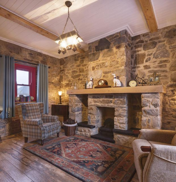 The traditional-look sitting room. Photo: Paul Doherty