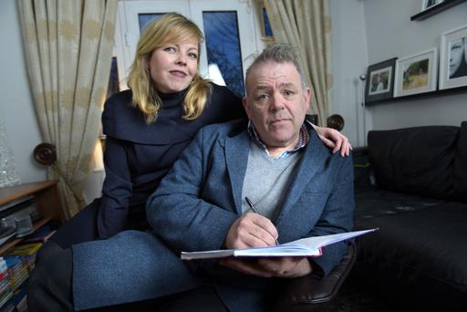 Gary Cooke at home in 16 Willie Nolan Road with wife Lorraine Prunty Cooke. Pic. Bryan Meade