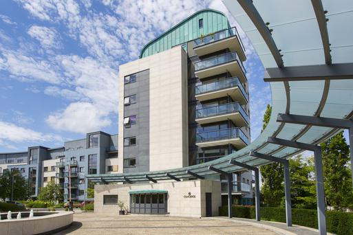 A three-bed apartment at Wyckham Way, Dundrum is on the market for €595,000