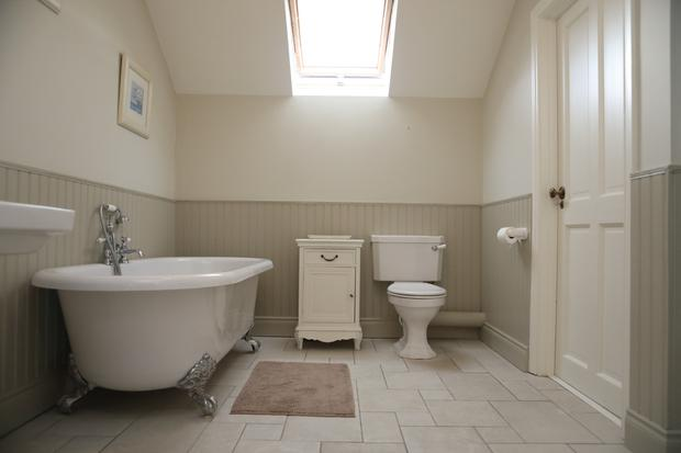 The rolltop bath in the family bathroom