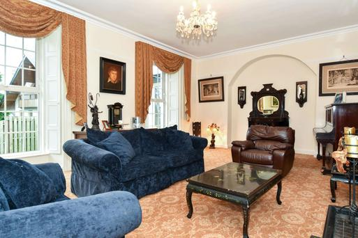 The drawing room is one of four reception rooms