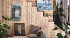 The maximalist look: Mix real-life greenery with bold botanical accessories for a fresh, striking update. Selection of botanical-inspired wall decor from Dutch interiors brand HK Living, available at Home Lust, home-lust.com