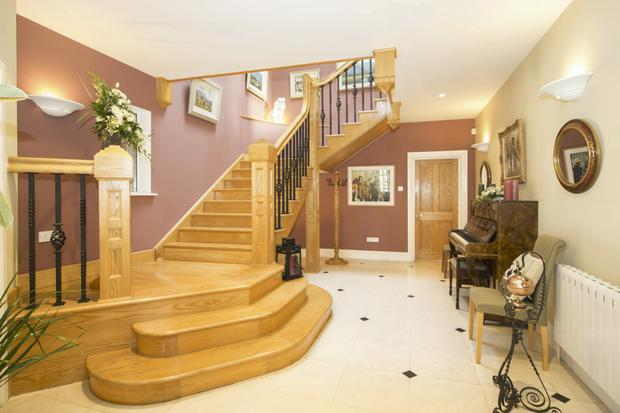The staircase was designed by owner, Maeve Riordan