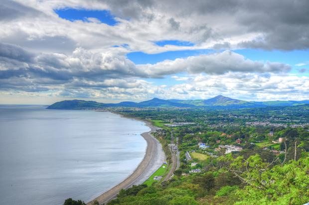 The view over Killiney