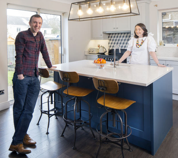 Grainne and Arthur Cassidy in the kitchen they created at No 18, Woodside. Photo: Tony Gavin