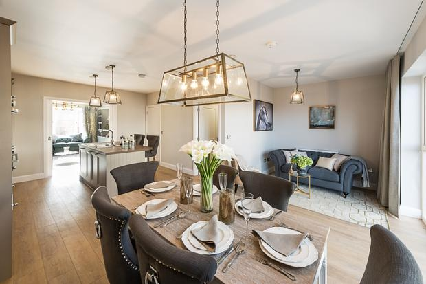 The dining/kitchen area in the Willows