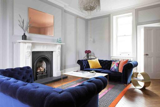 This Donnybrook, Dublin 4, residence isn't afraid to lean into the glam Art Deco look in a big way, dust.ie.