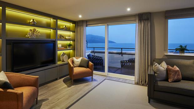 The living room at the Shore, Glenveagh Marina Village