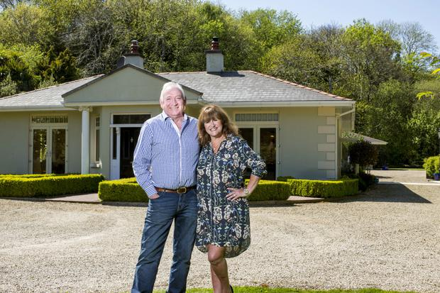 Stephen and Aisling Power outside their comfortable and spacious modern home. Photo: Mark Condren