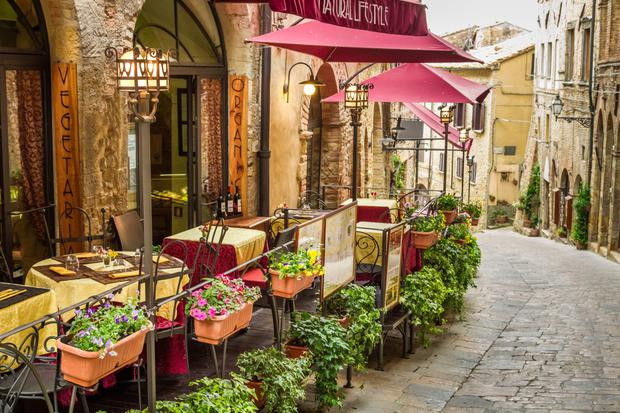 The cafe in Ravenna