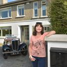 Una at the front of the property with the Morris 8. Photo: Bryan Meade