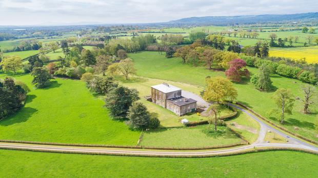 Aerial view of the main house
