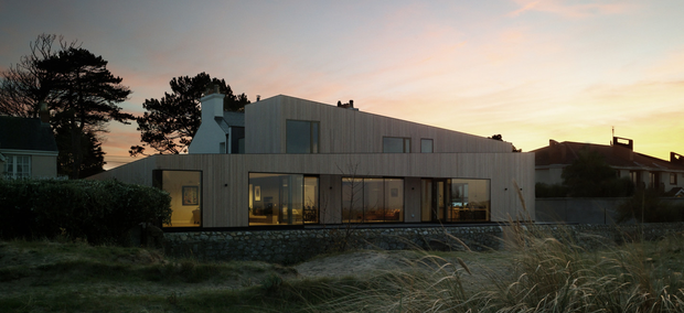BEACH BLISS: From the rear the impressive North County Dublin restoration and extension project is all modern.