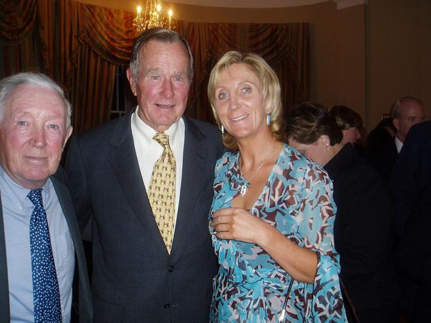 Phonsie O'Brien with George Bush and Mary Ann