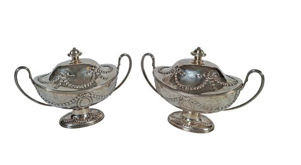 A pair of George III silver soup tureens from the O'Keeffe collection