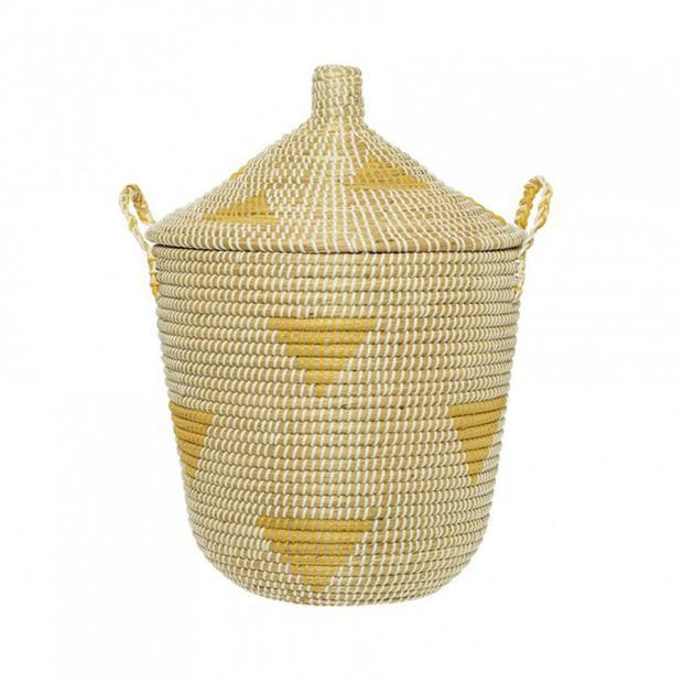 Yellow tepee basket, €75: A softer take on the trend, ideal for a boho space, lambdesign.ie
